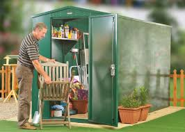 Rubbermaid Vertical Storage Shed 3746 by 5 X 11 Secure Metal Garden Shed Asgard