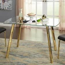 Glass And Wood Dining Tables Glass Kitchen Dining Room Tables For Less Overstock