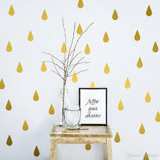 waterdrop vinyl wall decals diy decorative children u0027s gold black
