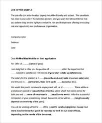 best solutions of free sample job offer letter from employer about