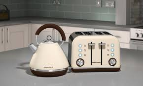 Morphy Richards Toaster Cream Kettle And Four Slice Toaster Groupon Goods