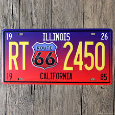 illinois rt 2450 car number plates retro metal poster tin sign tps
