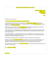 6 tenant reference letter templates free sample example