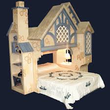 White Cottage Bookcase by Snow White Bed Bunk Beds By Playhouse Designs