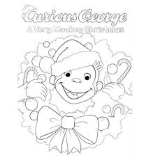 curious george christmas coloring happy holidays pbs