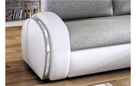 canapé simili blanc canapé d angle convertible gris et blanc en tissu et simili cuir