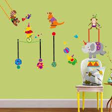 Circus Home Decor Aliexpress Com Buy Cartoon Animals Circus Wall Sticker For Kids