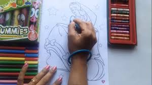learn to color for kids and color cinderella disney princess