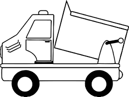 simple cartoon drawing of a dump truck coloring page wecoloringpage