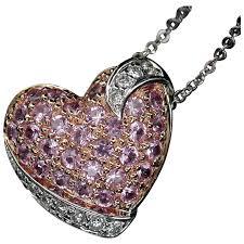 pink pendant necklace images Beautiful 18kt pink sapphire diamond pendant necklace jpg