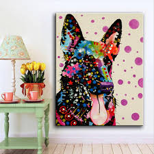 Modern Pop Art Style Apartment by Large Size Malinois Tongue Pop Art Wall Painting For Home Decor
