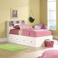 Girls White Twin Bed White Twin Platform Bed With Storage Drawers Underneath And