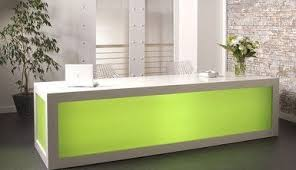 Illuminated Reception Desk Reception Areas Processing Imaging Equipment Supplies