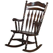 Rocking Chair Traditional Medium Brown Rocking Chair Kitchen Dining