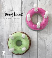 make a doughnut candle holder pysselbolaget fun easy crafts