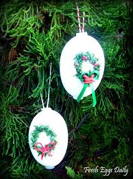 blowing out eggs for crafts ornaments