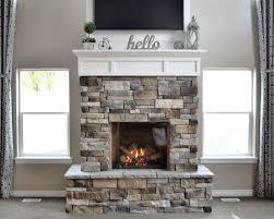 diy fireplace with stone u0026 shiplap nik nak shack