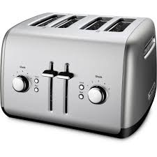 Delonghi Icona Toaster Silver Kitchenaid 4 Slice Silver Toaster Kmt4115cu The Home Depot