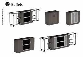zira boardroom accessories buffet serving carts