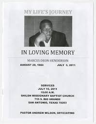 Cheap Funeral Programs African American Funeral Programs Of San Antonio The Portal To