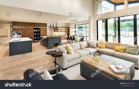 Luxury Living Room And Kitchen Beautiful Living Room Interior New Luxury Stock Photo 360591482