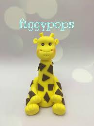 fondant giraffe cake topper birthday baby shower