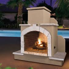 mirage stone open face outdoor fireplace with gas log kit hayneedle