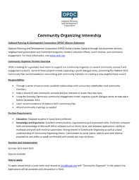 business development manager resume samples community organizer intern job description by oakland planning and community organizer intern job description by oakland planning and development corporation issuu