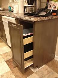 kitchen cabinet trash pull out diy pull out trash can in a kitchen cabinet amazing idea ana