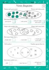 math venn diagrams math practice worksheet grade 2 teachervision