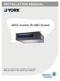 installation manual for 60hz inverter 9 48k ducted 160623
