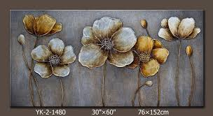 Decorating Items For Living Room by Large Flower Paintings Modern Canvas Art Flower Painting