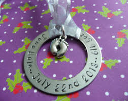custom sted metal ornament baby s