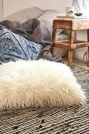 White Fur Ottoman by White Mongolian Fur Ottoman Faux Lamb 27141 Interior Decor