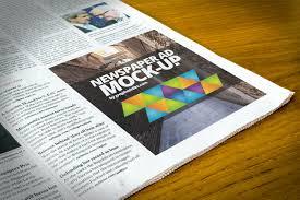 pattern newspaper photoshop free newspaper advert mockup psd creativetacos