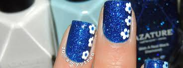 nail art tutorial blue and white flowers nail it