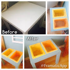 turn the cheap ikea side table into a sensory play table my
