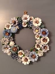 pinecone wreath best pine cone wreath and image of how to make a pinecone for