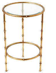 small gold side table bamboo accent table iron bamboo table antique gold transitional side