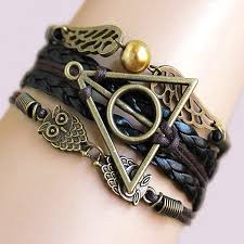 infinity braid bracelet images Harry multilayer braided bracelets vintage owl deathly hallows jpg