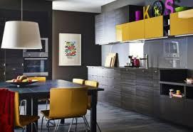 la cuisine décorée en jaune et noir 15 exemples