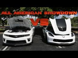 camaro zl1 vs corvette 2016 corvette z06 vs camaro zl1 all showdown