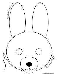 masks clipart easter bunny pencil and in color masks clipart