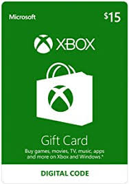 15 gift cards xbox 15 gift card digital code