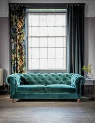 unique green velvet tufted sofa interior
