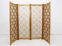 japanese fretwork teak room divider screen oneandhome