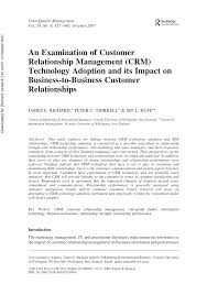 an examination of customer relationship management crm