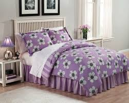 bedroom black and purple ornate patterned bedding sets mixed twin