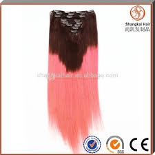 Double Weft Hair Extensions by Kids Clip In Hair Pieces Double Weft Colored Ombre Clip In Human