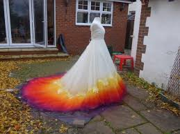 yellow wedding dress we spent 61 hours to create this dipdye wedding dress